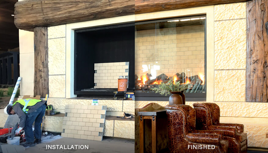 Gaylord Rockies Resort - Fireplace Installation